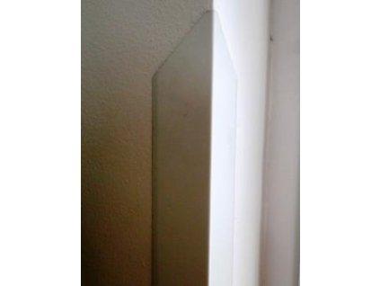 Ochranný roh zdiva z hliníkového plechu 1,5m - bílá