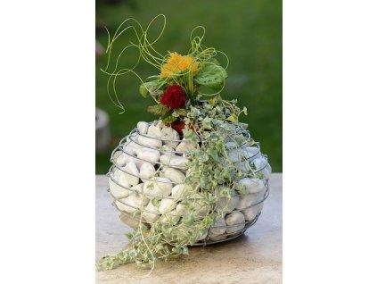 Gabionový květináč KOULE