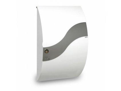 Poštovní schránka Wave - bílá s vlnkou z nerezi