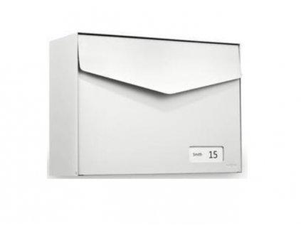 Poštovní schránka Letter se jmenovkou - bílá