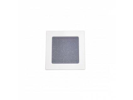 Lakovaná krbová mřížka s rámečkem a síťovinou 170x170 bílá