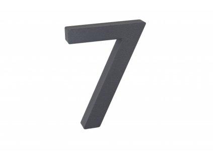Domovní číslo - 7, ANTRACIT 3D, 100 mm