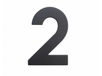Domovní číslo - 2, ČERNÉ 2D, 75 mm - RICHTER CZECH RN.75L.2.CE