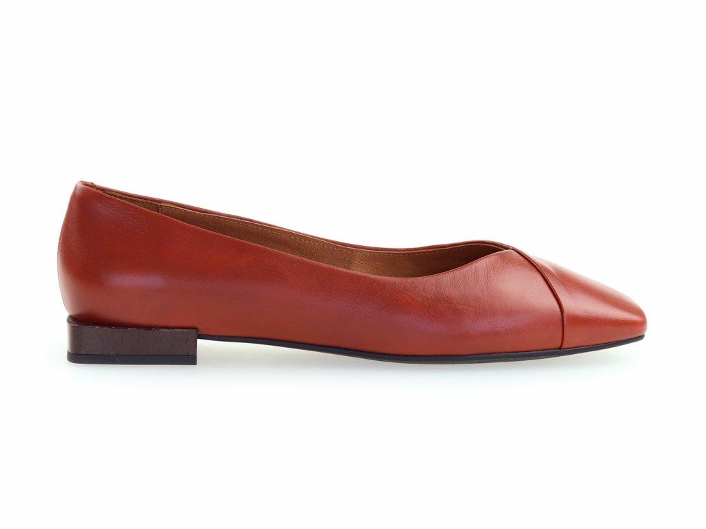 dámské kožené baleríny pro širší nohu