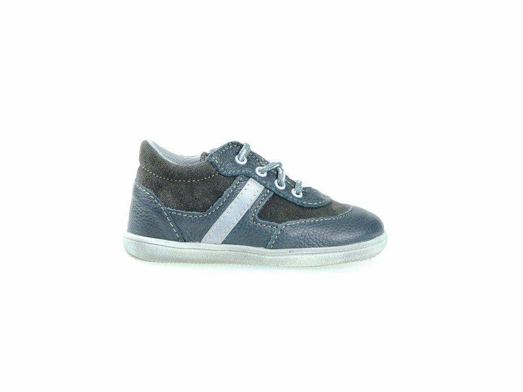 šedé kožené boty pro kluky