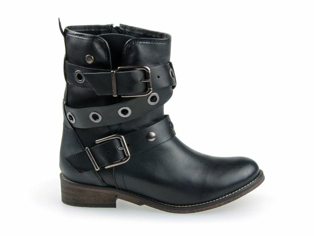 dámské kožené boty ve výprodeji