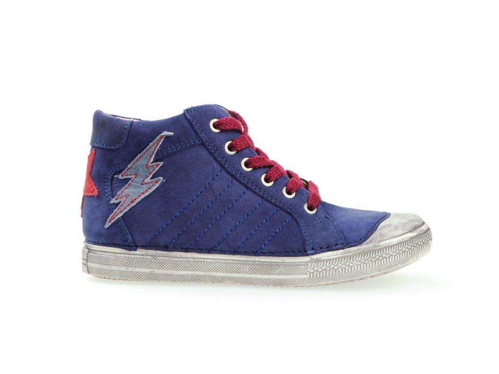 modré chlapecké boty, kožené