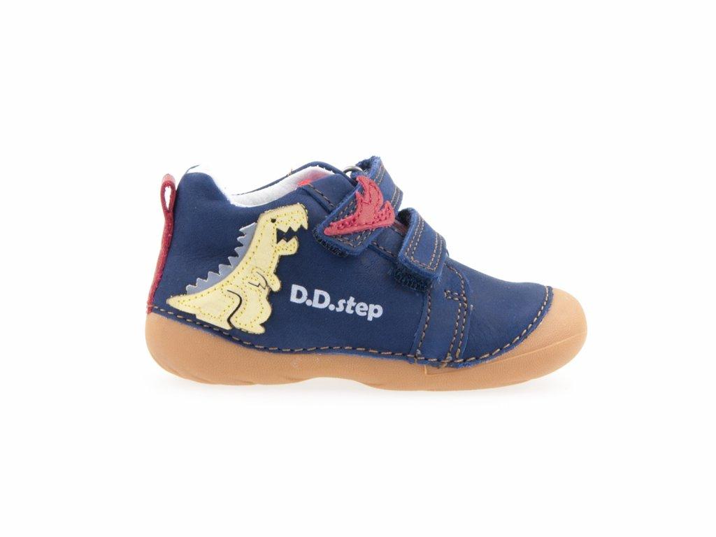 chlapecké modré kožené boty