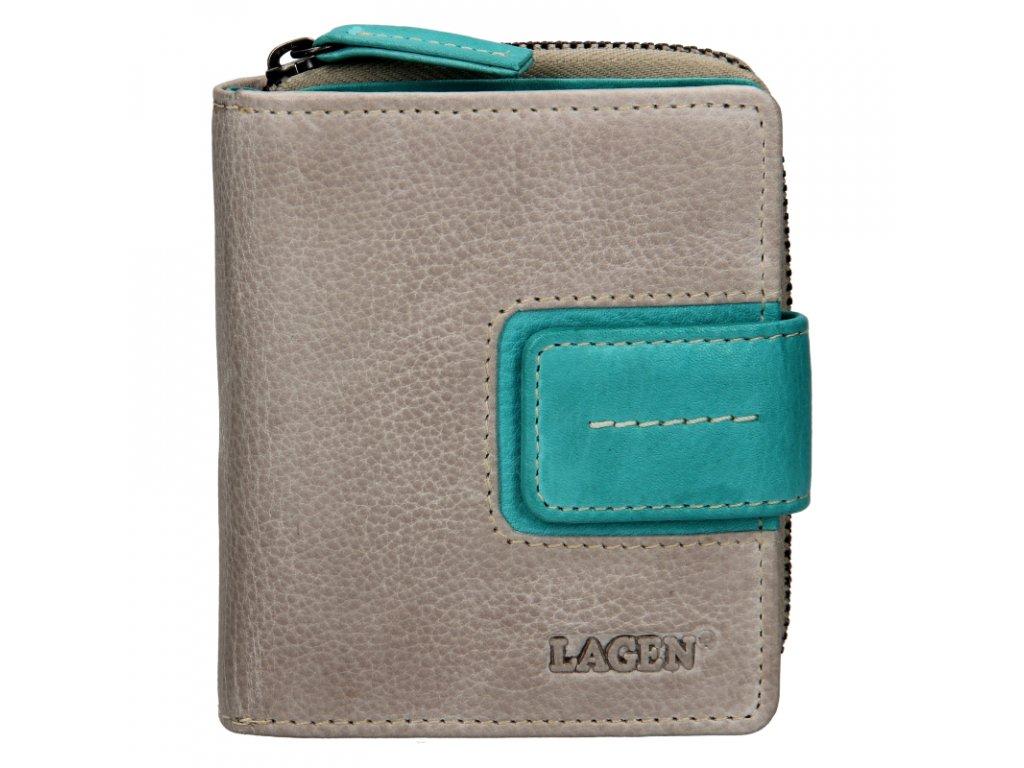 dámská kožená peněženka šedá
