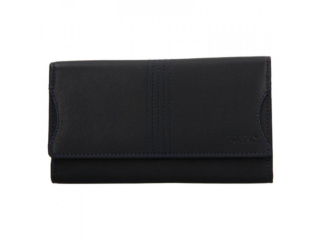 dámská kožená peněženka, tmavě modrá