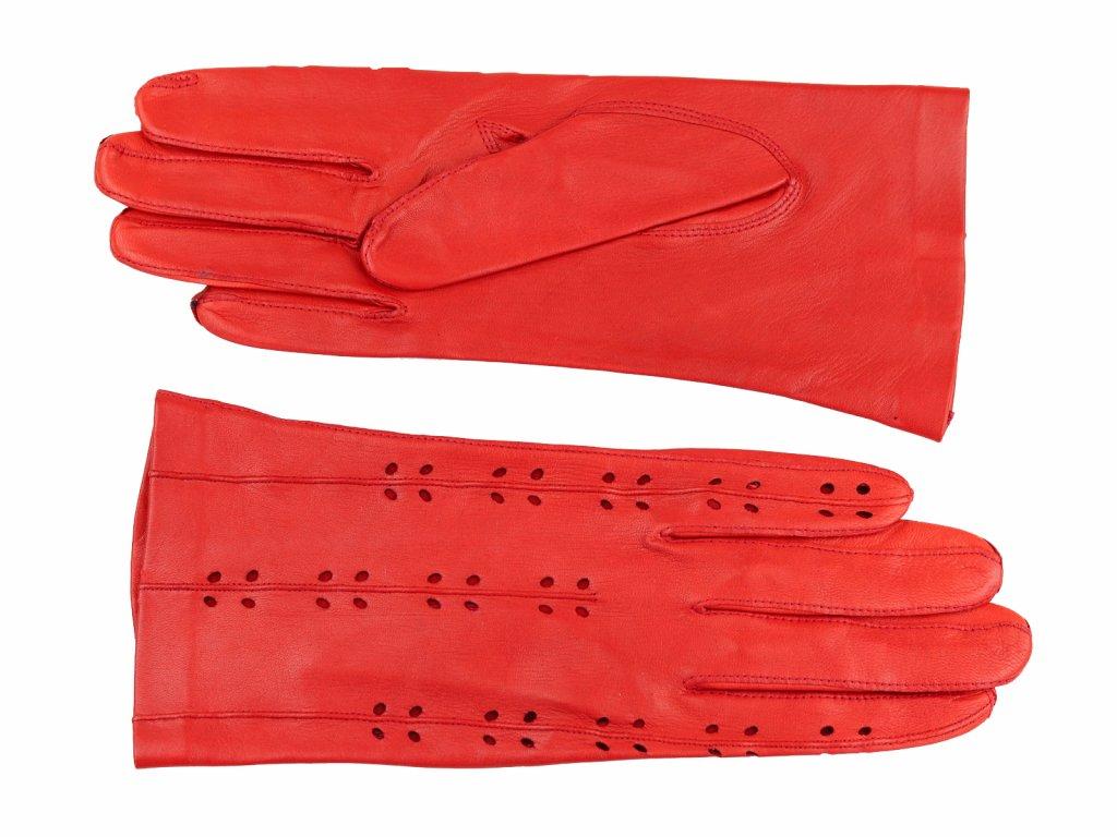 dámské kožené rukavice, červené