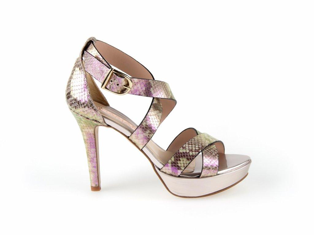 dámské elegantní sandály na vysokém podpatku