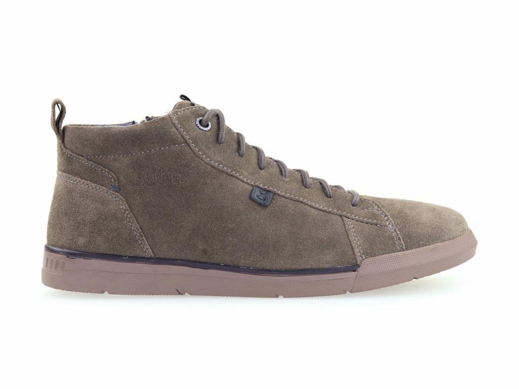 kožené kotníkové boty se zipem, pánské