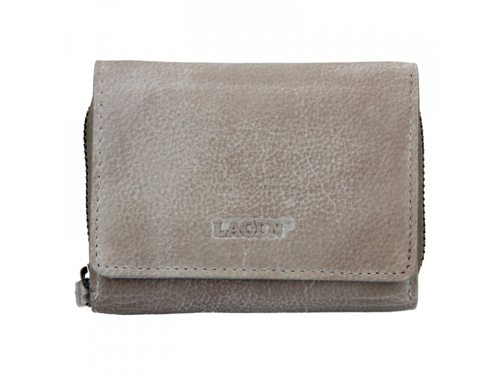 dámská kožená peněženka, taupe
