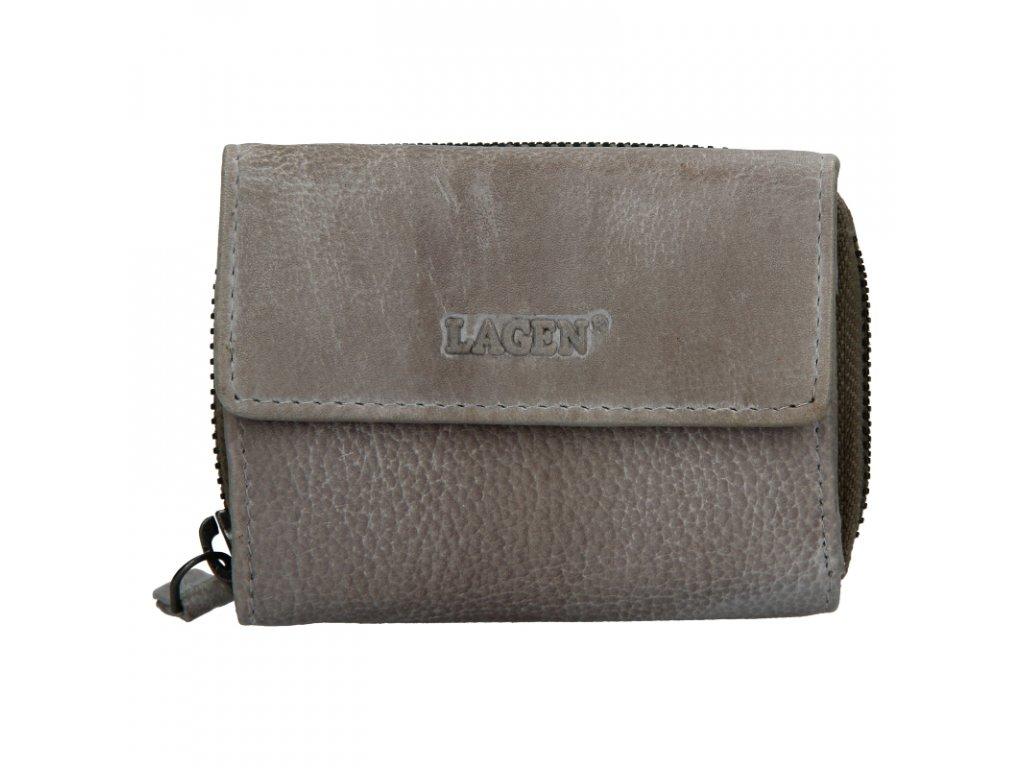dámská kožená peněženka taupe