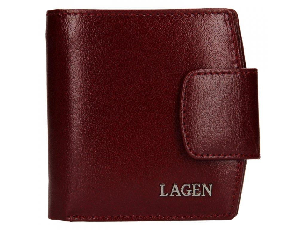 dámská kožená peněženka, vínová