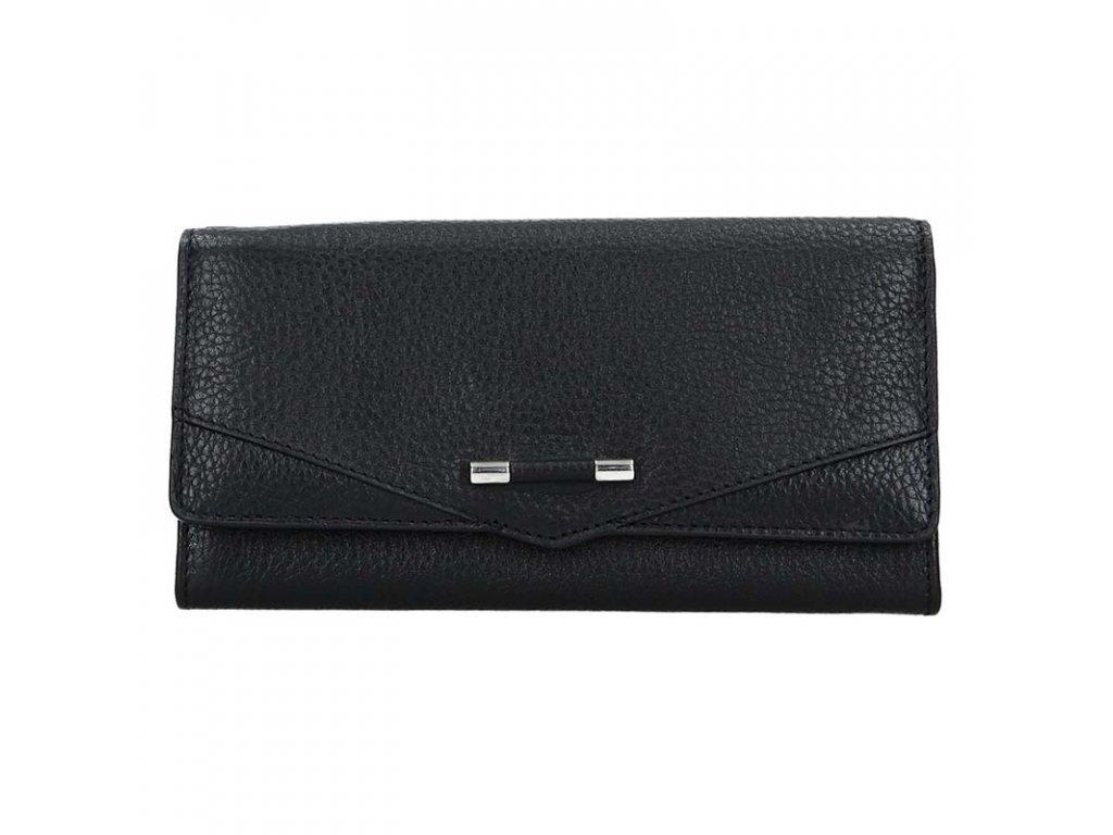 dámská kožená peněženka, černá