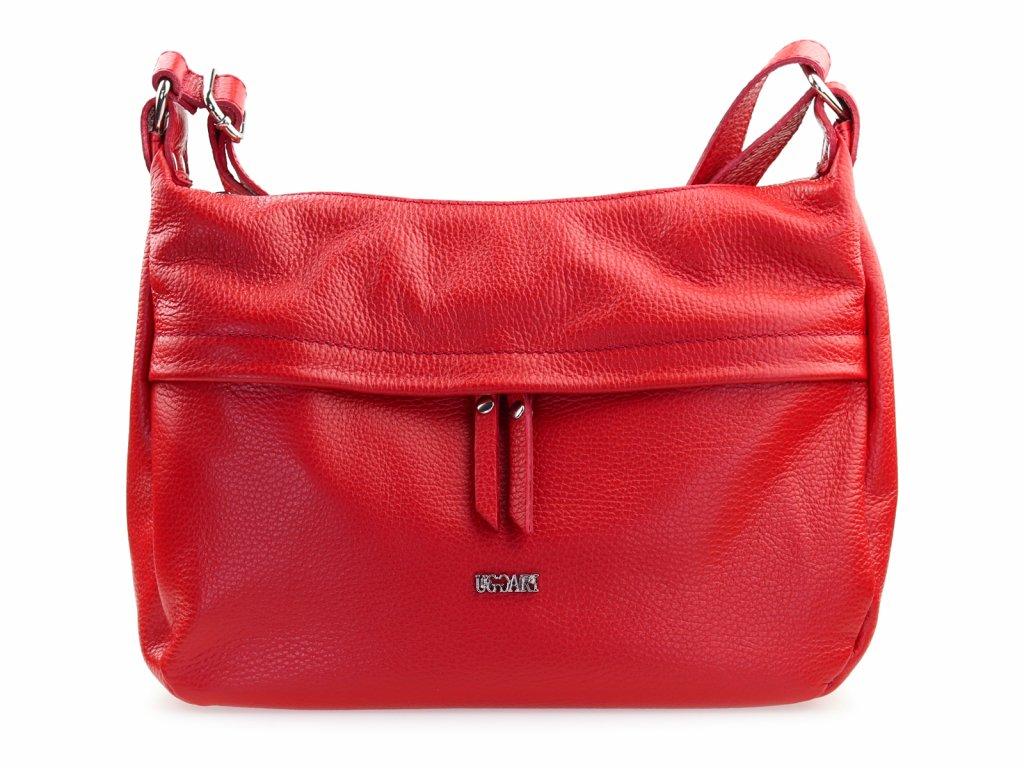 kožená kabelka červená