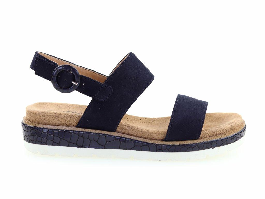 modré sandály na platfromě