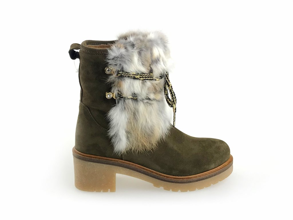 zimní dámské boty s kožíškem
