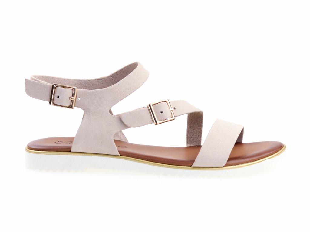 dámské sandály béžové