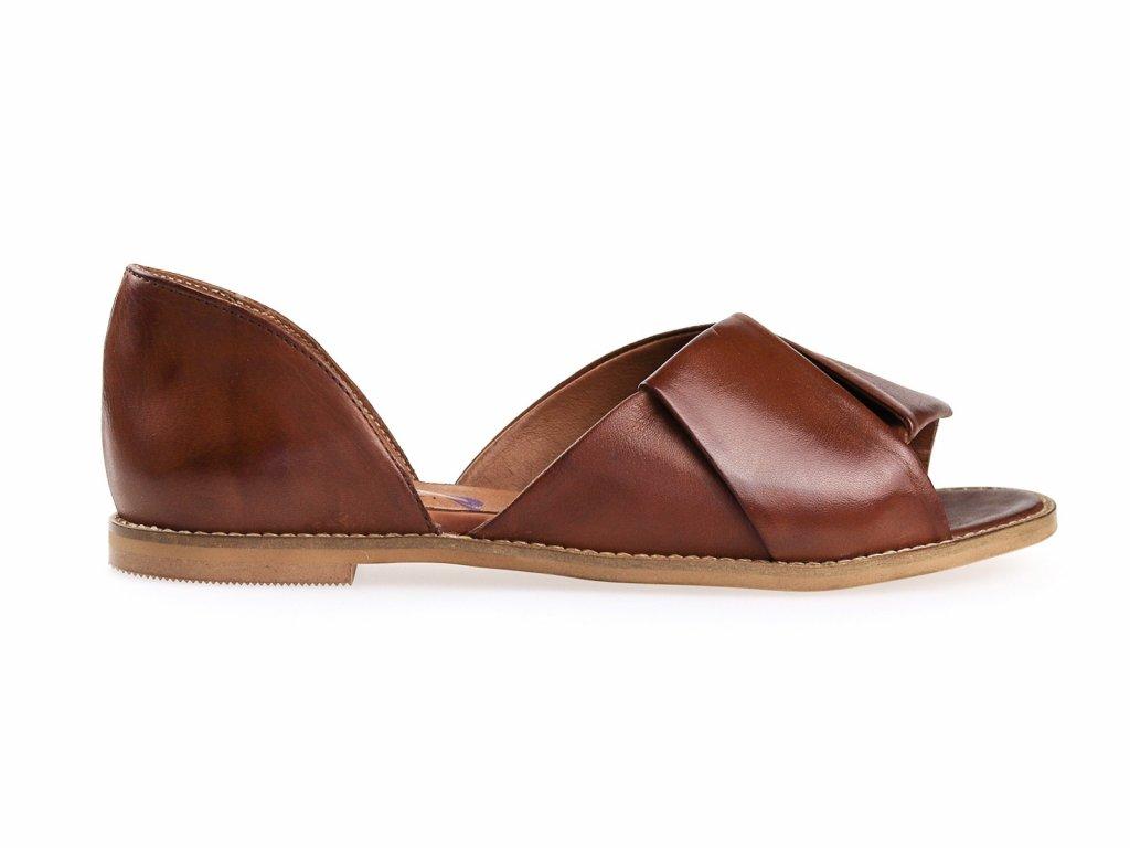 hnědé dámské sandály