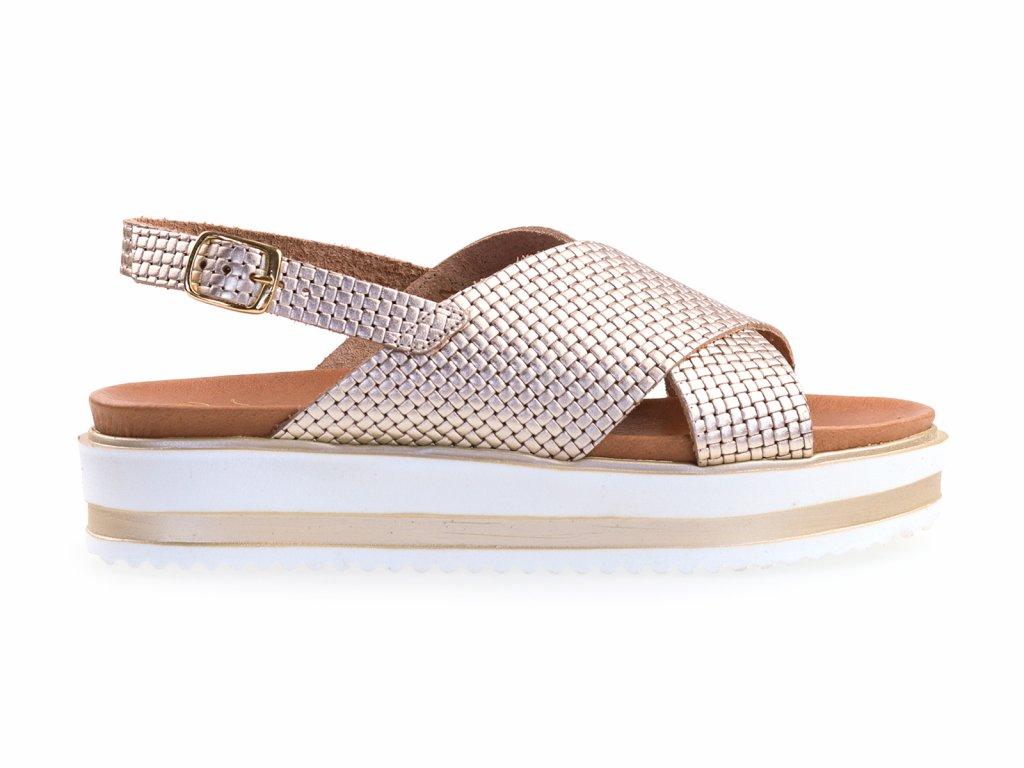 zlaté sandály
