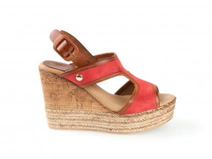Vaquetillas, dámské sandály Cielo coral
