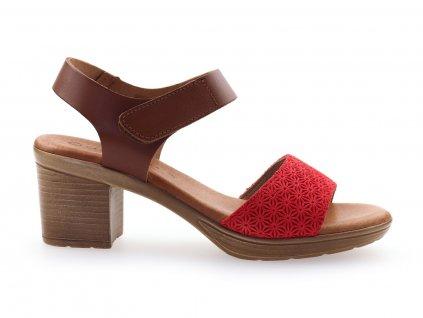 dámské kožené sandály na nízkén podpatku