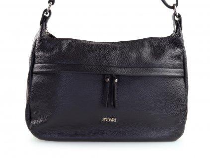 černá kožená kabelka na rameno
