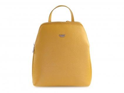 žlutý kožený batoh