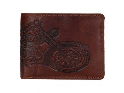 pánská hnědá peněženka s motorkou