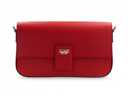 červené kožené psaníčko, italská kabelka