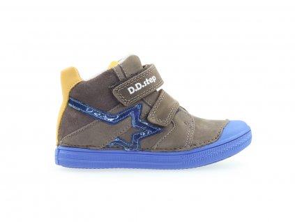 kožené kotníkové boty pro kluky