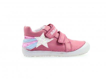 růžové podzimní kotníkové boty, barefoot pro holky