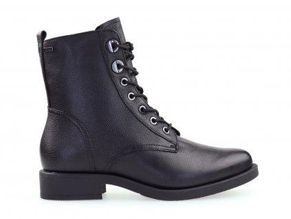 černé vyšší kotníkové boty