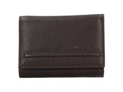 dámská kožená peněženka, hnědá