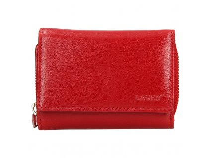 dámská kožená peněženka, červená