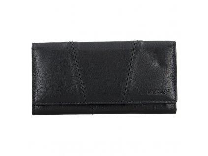 velká dámská kožená peněženka, černá