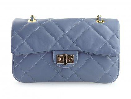 modrá elegantní kabelka, italská