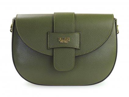 kožená italská kabelka, khaki