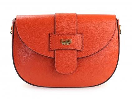 oranžová kožená kabelka, italská