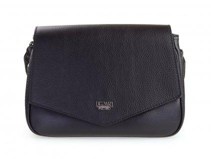 černá kožená kabelka, italská