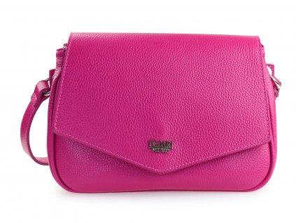 růžová kožená kabelka