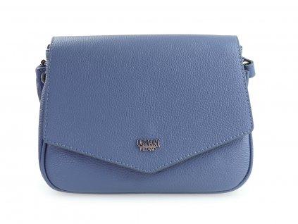 italská kožená kabelka, modrá