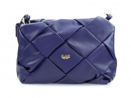 kožená kabelka na rameno, modrá