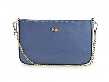 kožená kabelka modrá