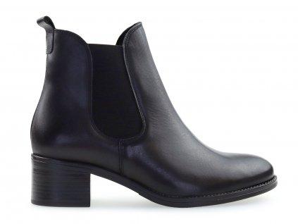 Kožené chelsea boots, černé  Kožené chelsea na nízkém podpatku.