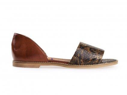 dámské hnědé sandály