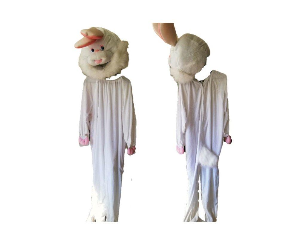 zajac biely kostým prenájom